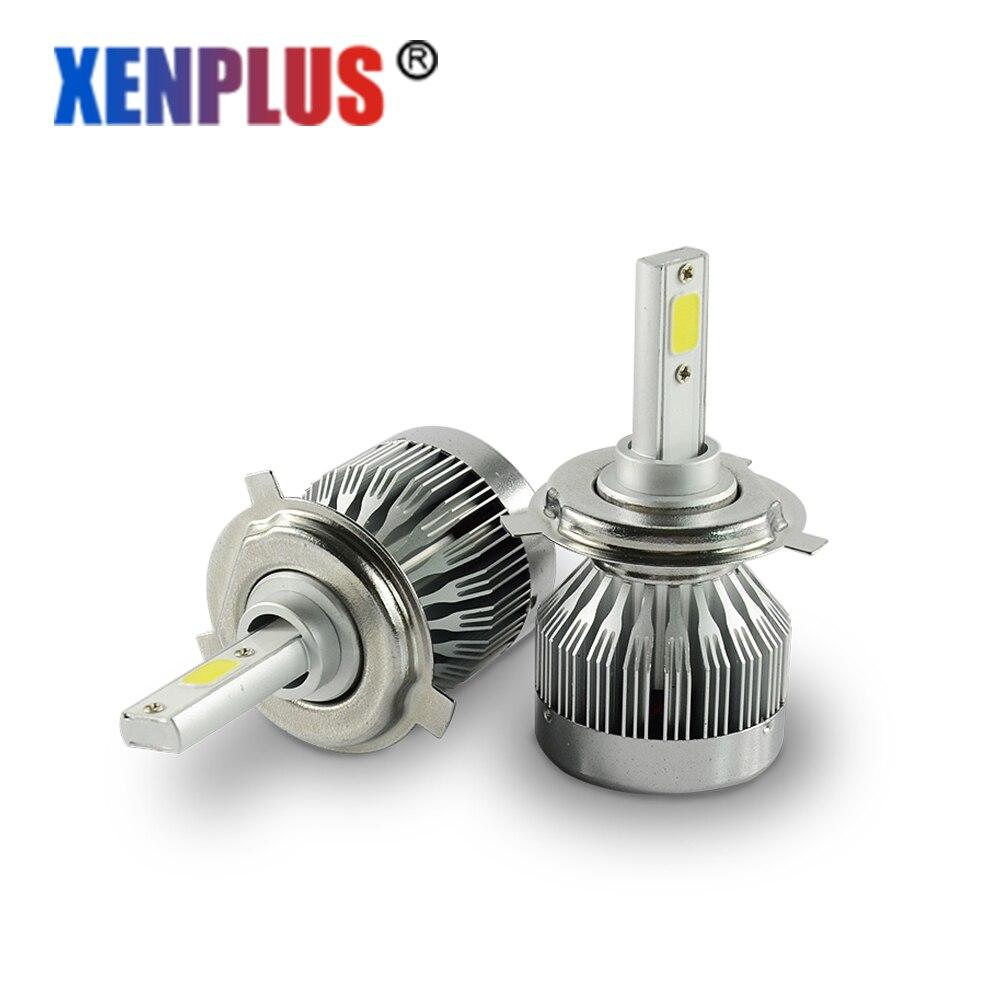 2Pcs H4 Led Car Bulb 30W 6000Lm 6000k Led Headlight H7 H13 H1 H11 5202 9007 9012 COB Chip Automobiles Headlamp C1 12V