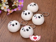 Squishy Panda Bun Jumbo Slow Rising Squeeze Toys 10CM 10 CM Slow Rising Panda Squishes Anti Stress Anti-stress Toy Key Chains(China)