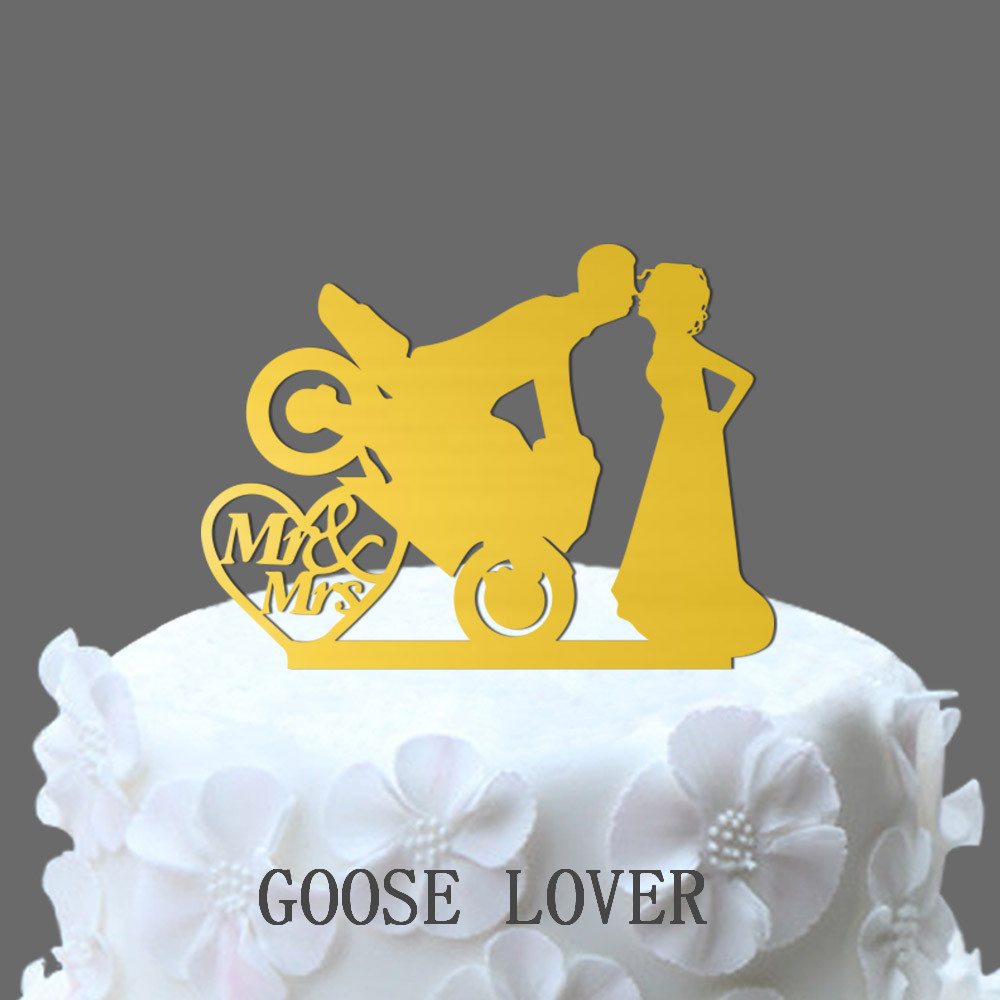 Motocross Cake Decoration, Motorcycle Cake Topper Bride And Groom ...