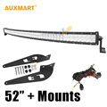 "Auxmart 5D Curved 12V Bar LED For Toyota FJ CRUISER 2007-2014 52"" 500W Spot Flood Combo Beam Roof LED Light Bar Offroad 4x4 4WD"