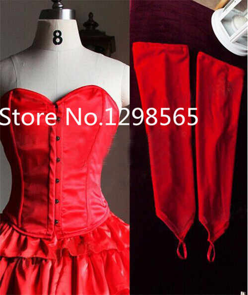 Custom Made Maria Padilha do Inferno Star Pomba Gira Costume Red Corset  Tiered Long Skirt Medieval Dress Cosplay Costume