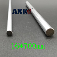 AXK 16mm linear shaft 700mm chrome plated linear motion rail round rod shaft CNC parts SFC16