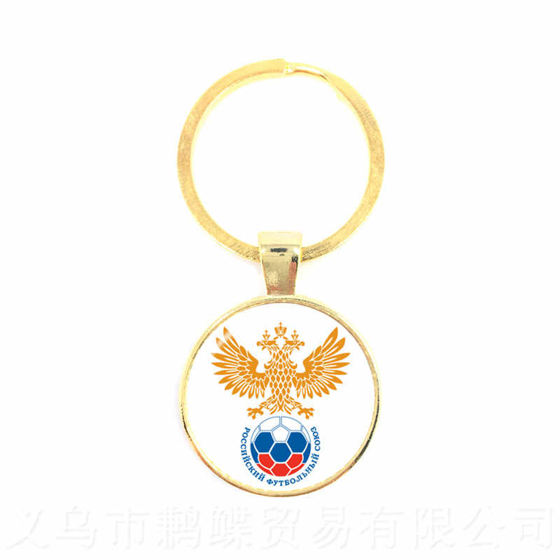 Costa Rica/Coréia/Columbia/França/Rússia Anéis Titular Chaveiro Logotipo Da Equipe Nacional de Futebol de Futebol Fãs Lembrança presente