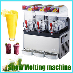 XRJ15X3 Snow Melting Machine  Fully-Automatic Three Tank Slush Smoothies Granita Machine Sand Ice Machine 110V or 220V