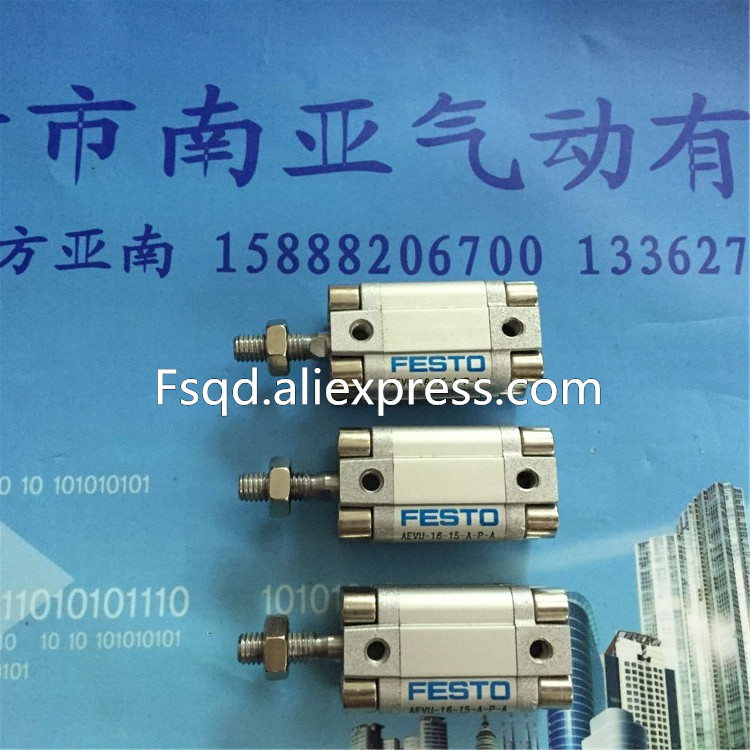 AEVU-16-15-A-P-A FESTO Thin cylinder pneumatic cylinder AEVU series paiste 16 rude thin