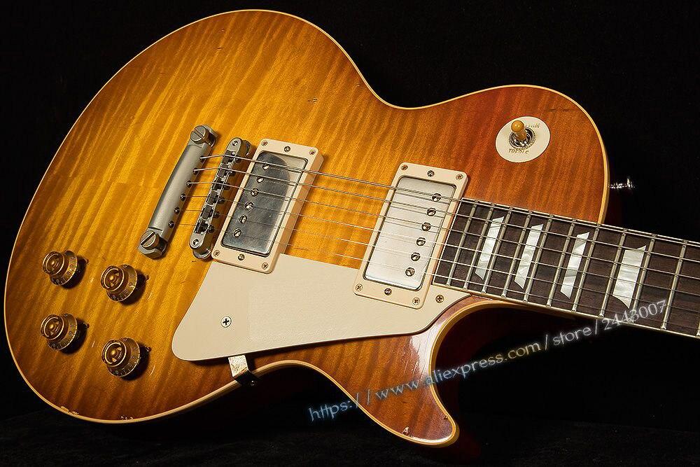GC Collector's Choice Custom Shop Historic Mark Knopfler 1958 Aged & Signed Electric Guitar (Knopfler Burst) gc collector s choice 8 1959 bernie marsden the beast electric guitar dirty lemon