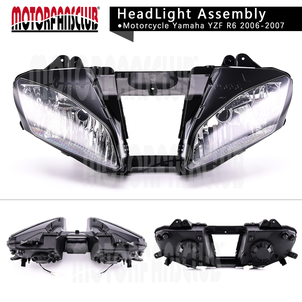 Motorcycle Clear Lens Headlight Headlamp Case For Yamaha YZF R6 2006-2007 Front Head Light Assembly Housing