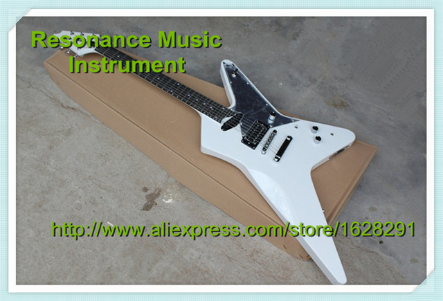 Cheap High Quality White ESP Electric Guitar Rosewood Fretboard With Dot Inlay Custom Guitar Kit & Body Available