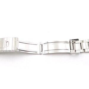 Image 4 - Rolamy Bracelet en acier inoxydable, 20mm, maillons creux, bout incurvé, déploiement, fermoir à verrouillage coulissant, brossé, pour Oyster, VINTAGE 70216 455B