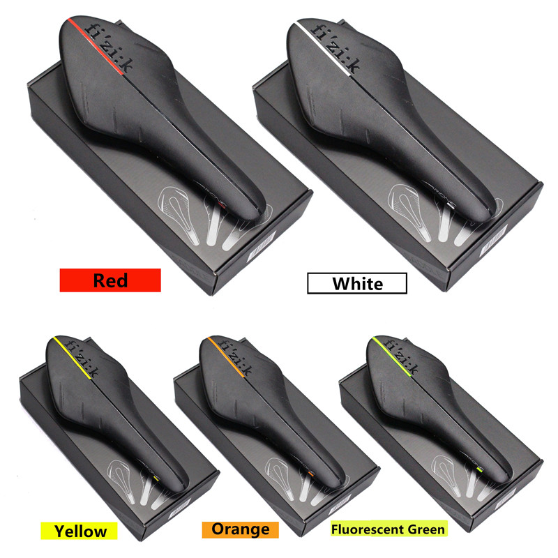 Top ultra-light red and black carbon fiber cushion bicycle saddle box new arrival carbon saddle ultra black