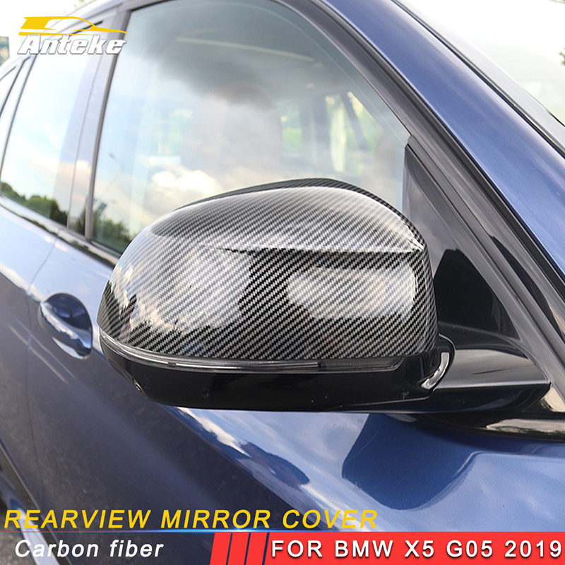 ANTEKE For BMW X5 2019 Car Styling Rearview Mirror Cover Protector Trim Frame Sticker Exterior AccessoriesANTEKE For BMW X5 2019 Car Styling Rearview Mirror Cover Protector Trim Frame Sticker Exterior Accessories