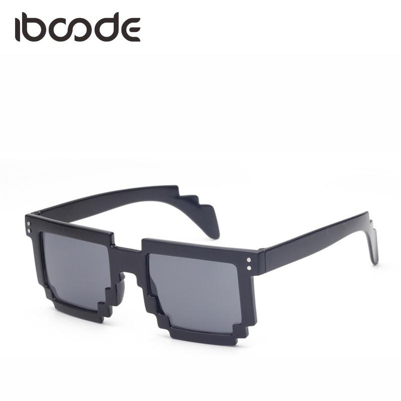 Apparel Accessories Genteel Iboode New Irregular Mosaic Men Women Sunglasses Minecraft Thug Life Pixel Unique Style Fashion Sun Glasses Anti-uv Shades Gafas Relieving Rheumatism Men's Glasses