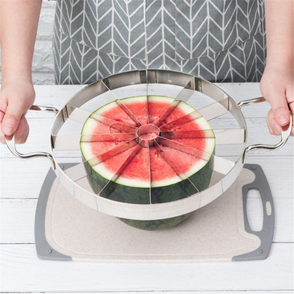 Conveniente Anguria Affettatrice Cucina In Acciaio Inox Taglierine Utensili Da Taglio Anguria Cutter Frutta Utensili Da Cucina