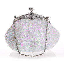 Sequin beaded bag handbag banquet bride shiny flower