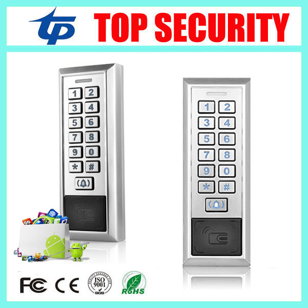 5pcs/lot free shipping 125KHZ RFID EM card metal access control reader single door surface waterproof ID card access control free shipping waterproof metal shell 125khz rfid access control card reader with wg26 port 5pcs crystal keyfobs
