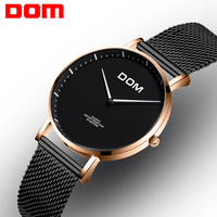 DOM Women Watches Luxury Brand Fashion Quartz Lady Stainless Steel Bracelet Watch Casual Mesh Clock Montre