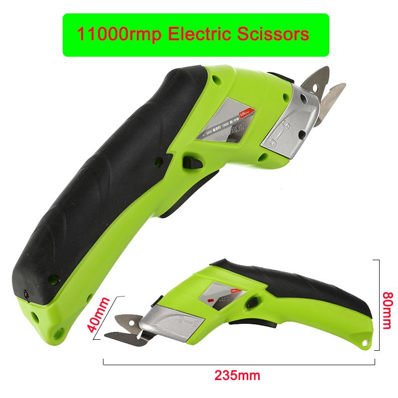 Multipurpose 110V 220V Electric Scissors Fabric Leather Cloth Cutting Cordless Chargeable Fabric Sewing Handheld Scissors
