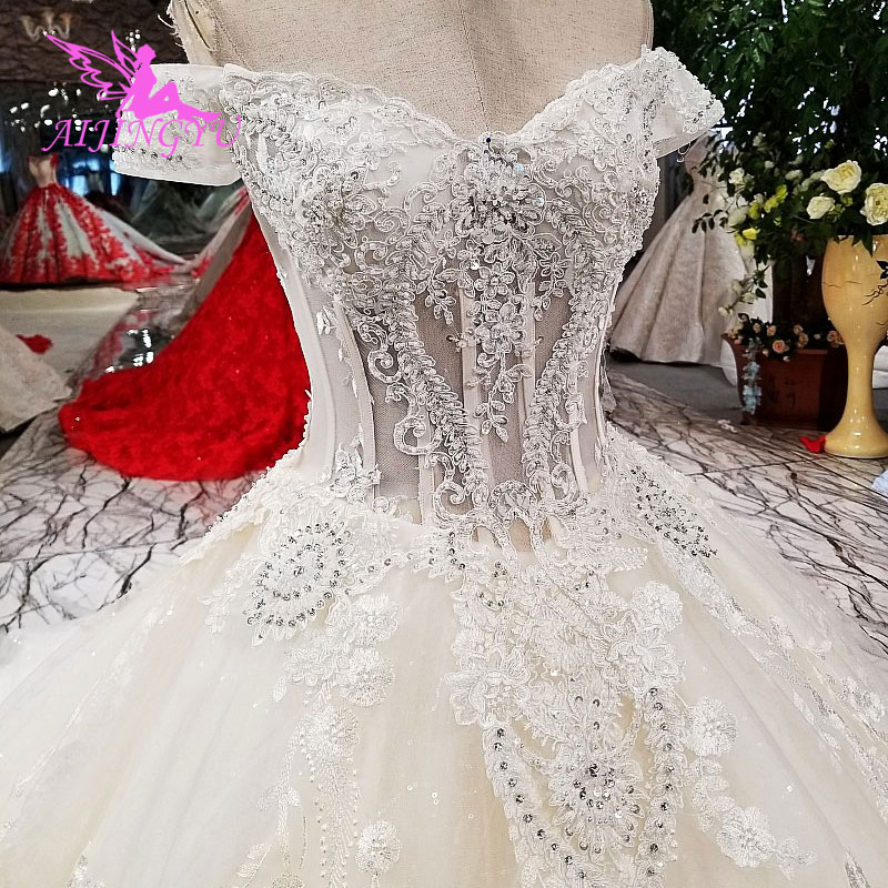 AIJINGYU Real Sample Wedding Dresses Ivory Guangzhou Princess Affordable Shops Wed To Be Gowns China Factory Wedding Dress