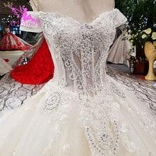 Aijingyu リアルサンプルウェディングドレスアイボリー広州王女手頃な価格ショップ結婚する中国工場のウェディングドレス