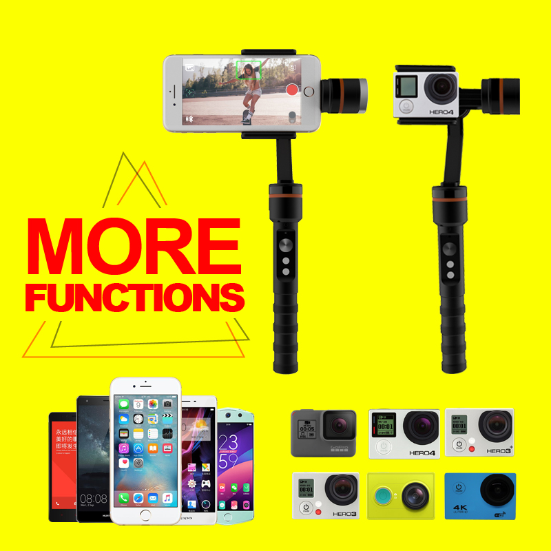 phone Grip Handle Rig with Wrist Strap, Tripod Mount Adapter Handheld 3-axis stabilizer face recognition gimbaland Microphone