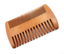 Wooden Yellow Mens Beard Comb Pocket Wooden Comb Natural Tooth Wood Combs No Static Double Side Beard Comb Hair Styling Tool