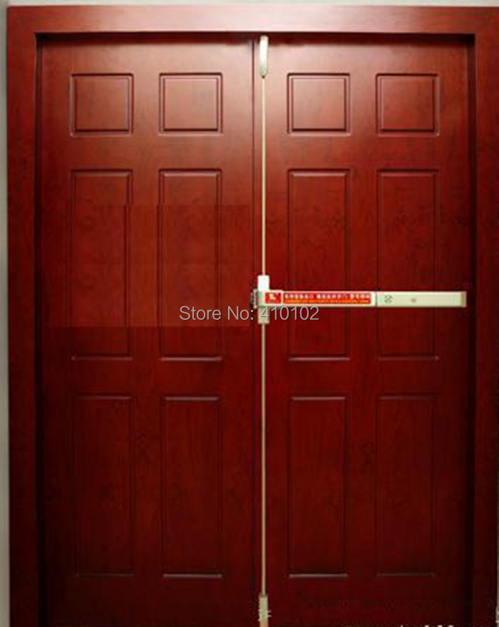 Double Leaf Emergence Fire Door Panic Push Bar / Exit Control Device With Alarm