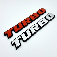 2017 3D Car Emblem Metal Alloy TURBO Stickers Car Badge For Granta KIA K3 K5 Rio