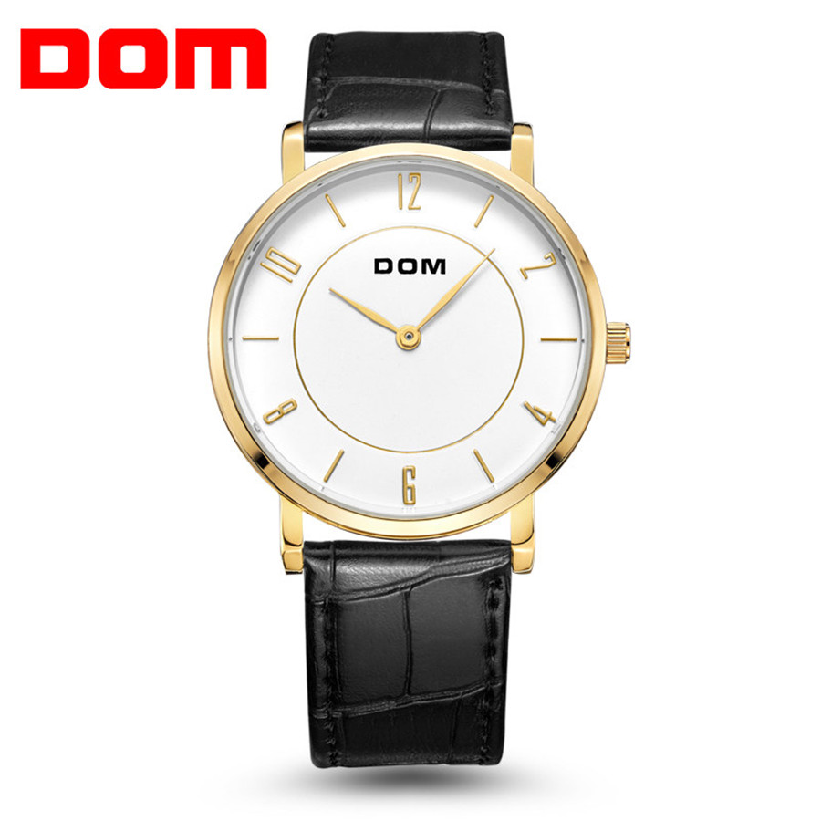 Permalink to DOM Mens Watches Fashion Luxury Brand Ultra Slim Lovers' Quartz Watch Business Men Watches Leather Relogio Masculino 2018