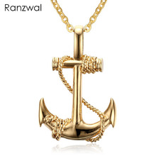 Ranzwal 316L Stainless Steel Necklace for Women/Men Navy Style Gold Silver Color Anchor Necklace & Pendant MNE005