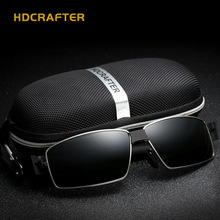 HDCRAFTER rectangle Polarized mens sunglasses brand designer 2017 Driving Vintage Eyewear Accessories Sun Glasses For Men shades