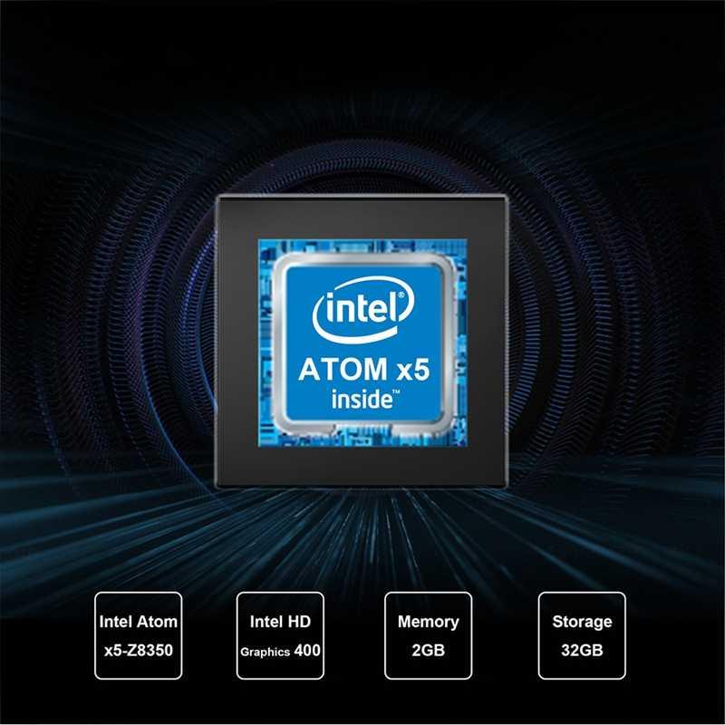 Máy Tính Mini PC Intel Atom Z8350 1.92 GHz RAM 2 GB Rom 32 GB Windows 10 Bluetooth 4.0 4K 5.8 GHz Wifi 1000M LAN Win10 Smart TV Box (