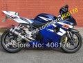 Hot Sales,For SUZUKI GSXR 600 750 K4 2004 2005 GSXR600 GSXR750 04 05 R600 R750 Blue White Motor fairing set (Injection molding)