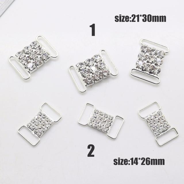 New Hot 10Pcs Bikini Accessories Diy jewelry Accessories rhinestones  pedestal embellishments caps Decoration For Making mixing 756b281eb359