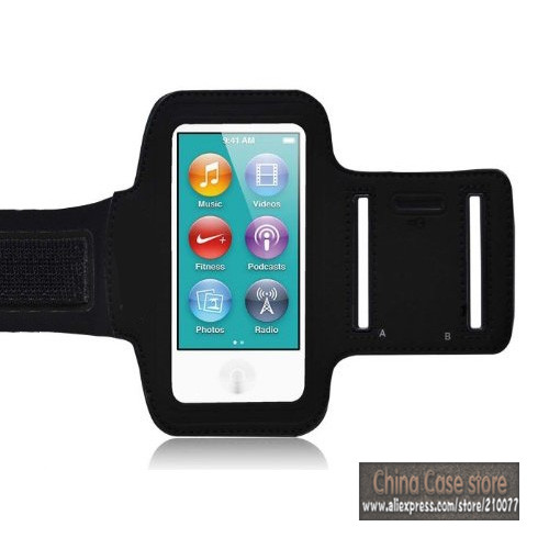 Free Shipping Sports Workout Armband Gym Running Jogging Case Strap For Ipod Nano 7 7th Gen