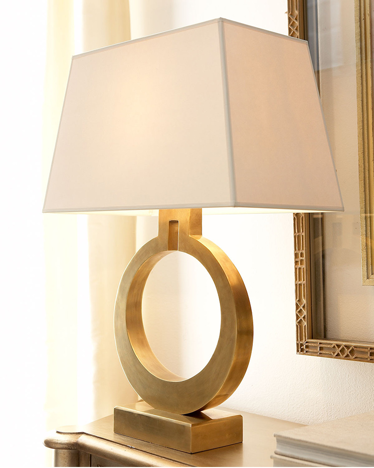 American modern luxury villa gold table decorating table lamp Nordic retro bedroom bedside LED reading lights