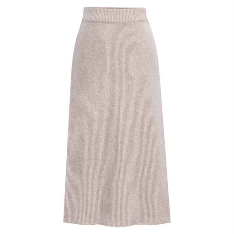 Autumn and winter wool skirt split bag hip skirt step skirt high waist knit skirt multicolor higher size dress