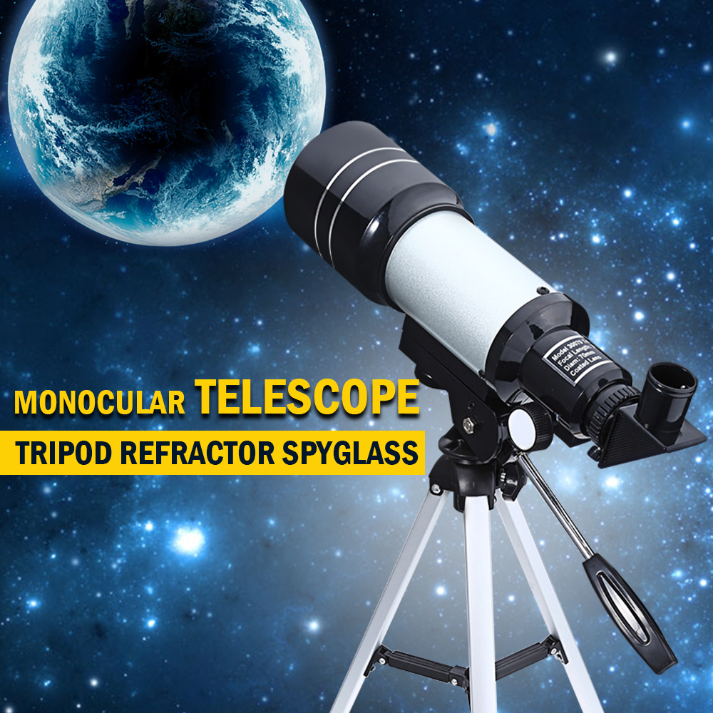 Professional Telescope Astronomical Monocular With Tripod Refractor Spyglass Zoom High Power Powerful For Astronomic Space jiehe high quality cf350 60mm monocular space astronomical telescope with tripod powerful zoom monouclar telescope high times