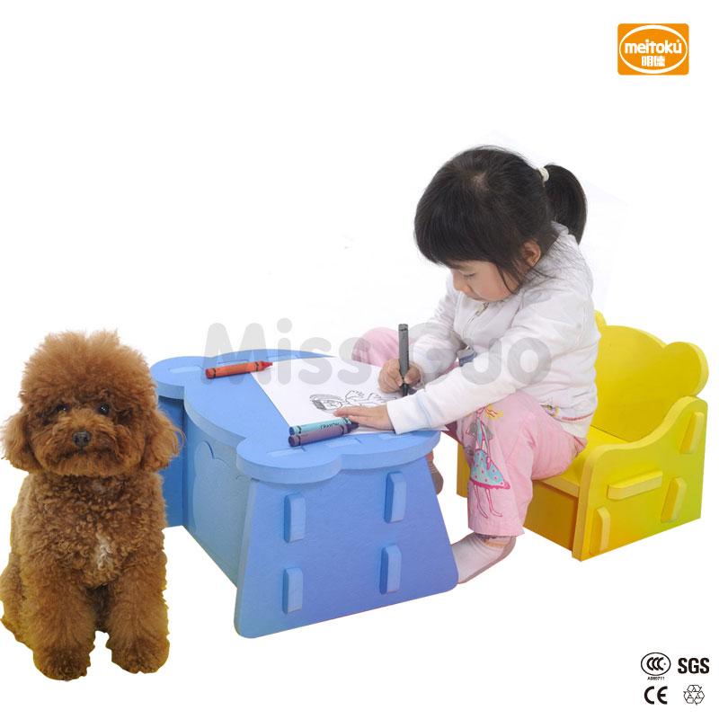 Meitoku Baby Sicherheit Schaum Kinder Tisch Und Stuhl