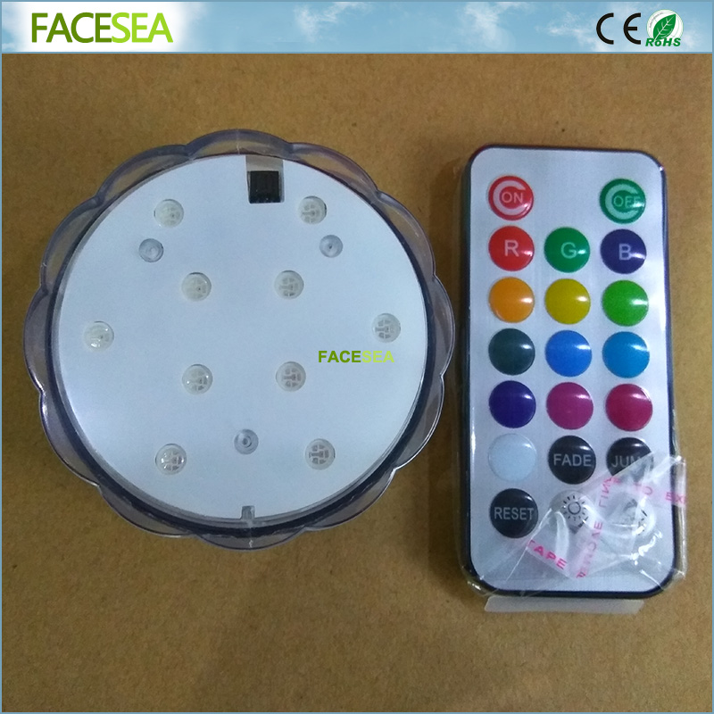 RGB Submersible LED Light Battery Operated Waterproof Underwater Swimming Pool Wedding Party Piscina Pond Fish Lighting