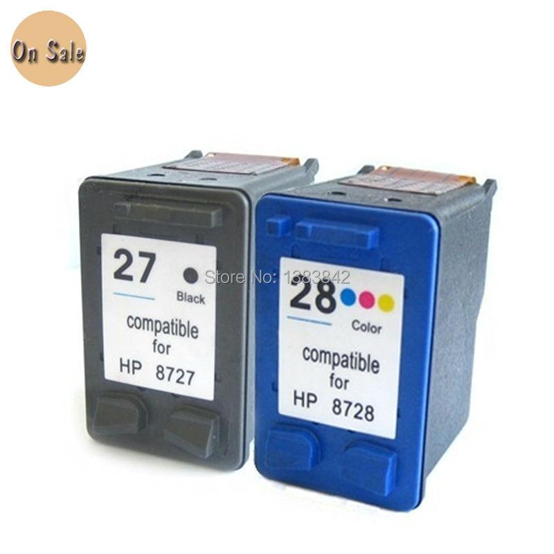 Hisaint For Hp 27 28 Ink Cartridge For Hp27 For Hp28 Deskjet 3320 3325 3420 3535 3550 3650 3744 Printer Models Free Shipping