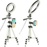 Anillo de luz LED para cámara de fotografía lámpara anular Luz de estudio para Youtube maquillaje teléfono Selfie con trípode soporte para teléfono Clip