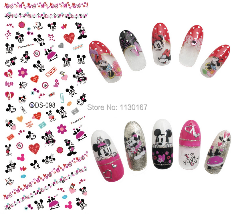 Lovely Mouse Export KOREA 2015 newest nail art water transfers ...