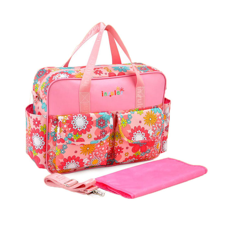 Baby Diaper Bags Brand Multifunction Fashion Floral Nappy ...