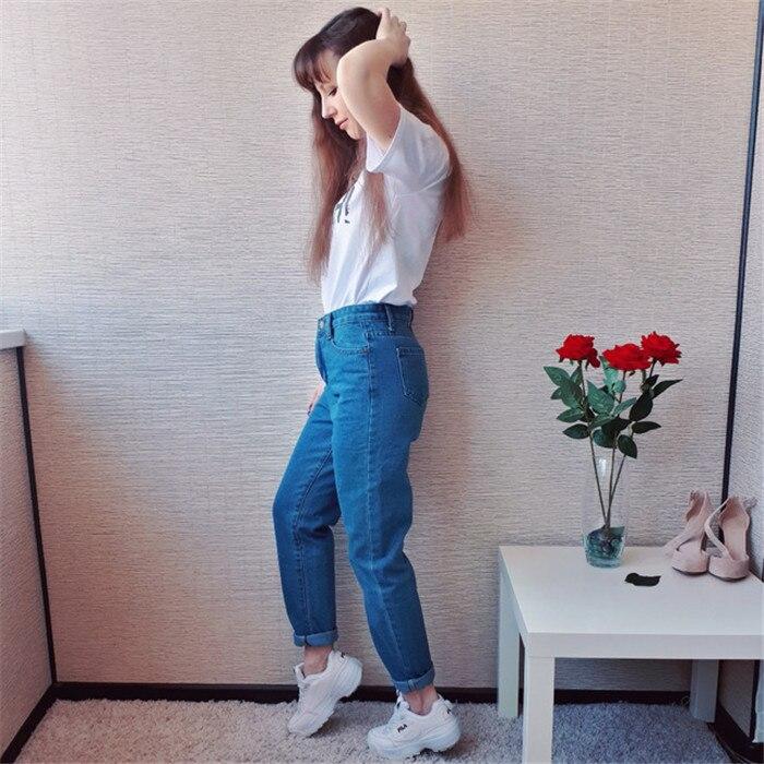 Dunayskiy Autumn jeans women Fashionable Blue High Waist Loose Denim Jeans Female Harem Pants Trousers boyfriend jeans for women 4