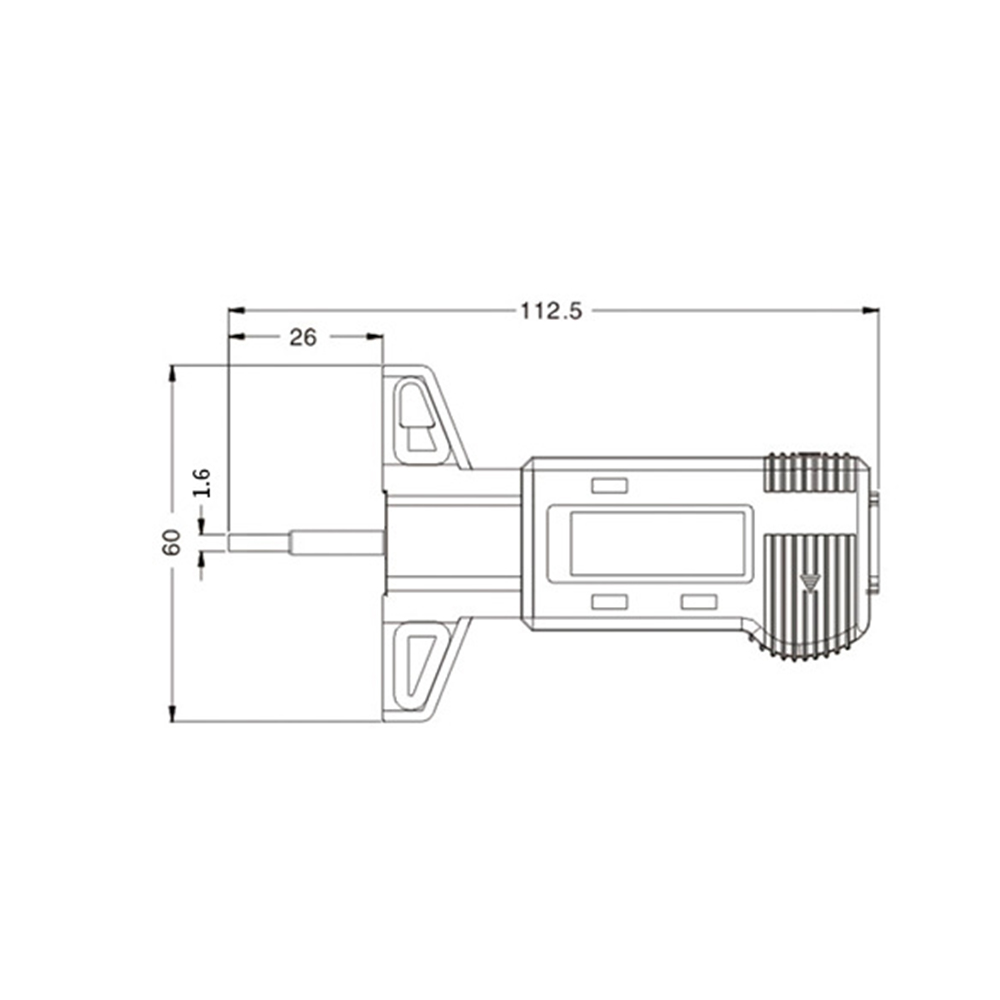 car tire digital tyre tread depth tester brake shoe pad wear gauge tread checker pressure measuring tool in hand tool sets from tools on aliexpress com  [ 1000 x 1000 Pixel ]