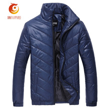 High Quality Men Winter Twill Coat Jacket Leisure Stand Collar Solid Color Windproof Thick Keep Warm Jacket Parka Coat Size 5XL