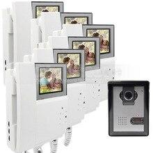 600TV Line DIYSECUR 4.3 pulgadas Teléfono Video de La Puerta de Intercomunicación de Vídeo IR Cámara de Visión Nocturna Al Aire Libre para el Hogar/la Oficina de Seguridad sistema
