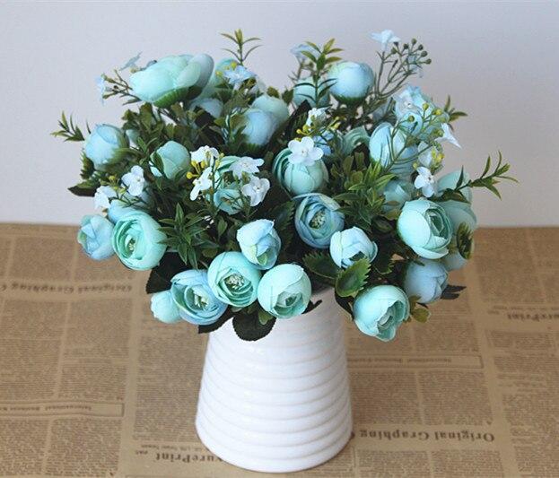 10 PCS/fourche 10 tête printemps thé rose fleurs floral décoration du salon Ameublement simulation