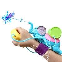 2018子供面白い水のおもちゃカラフルな象夏子供海辺風呂水ピスト