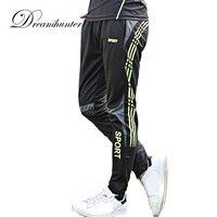 في الرياضة تشغيل السراويل الرجال سريعة التجفيف التدريب طماق قيعان رياضية كرة السلة اللياقة طويلة sweatpants